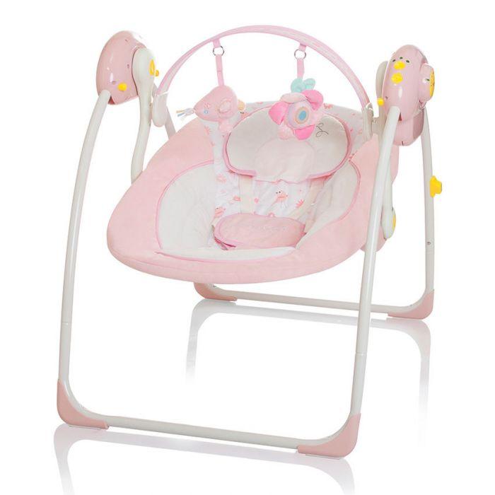 Baby Schommelstoel Automatisch.Baby Swing Little World Dreamday Pink